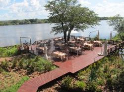 David Livingstone Safari Lodge & Spa Deck area